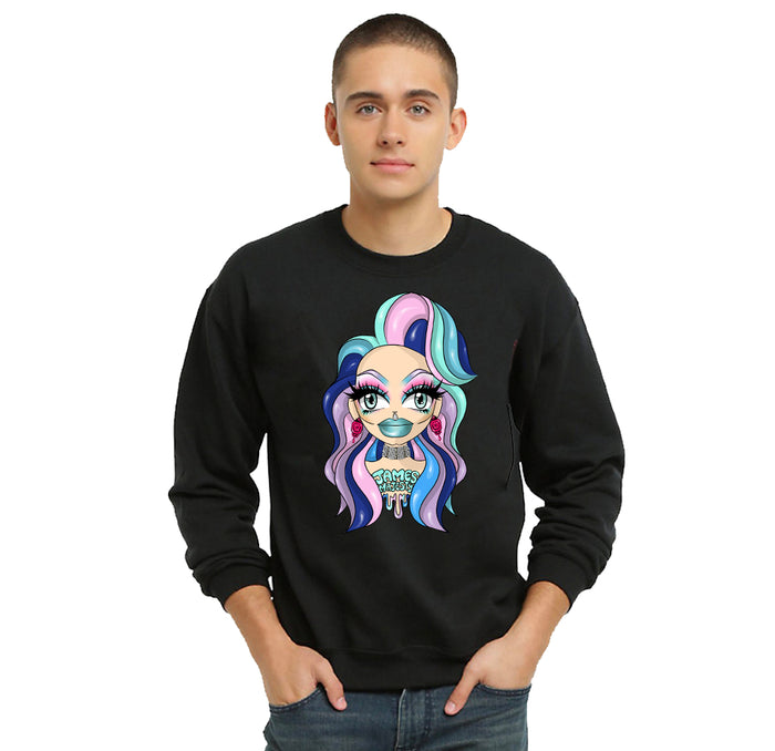 SWEATSHIRTS - JAMES MAJESTY PINK DIAMONDS SWEATSHIRT