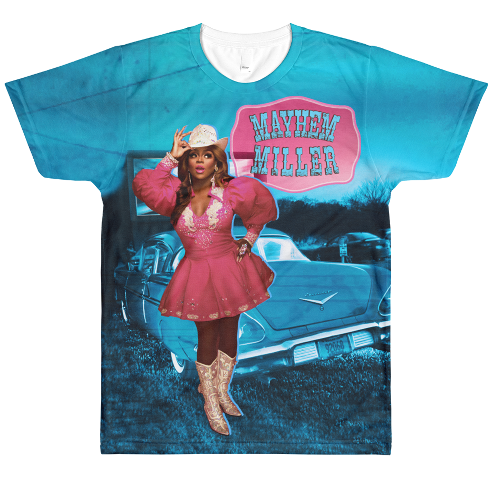 "MAYHEM MILLER ""COWGIRL"" SUBLIMATED T-SHIRT"