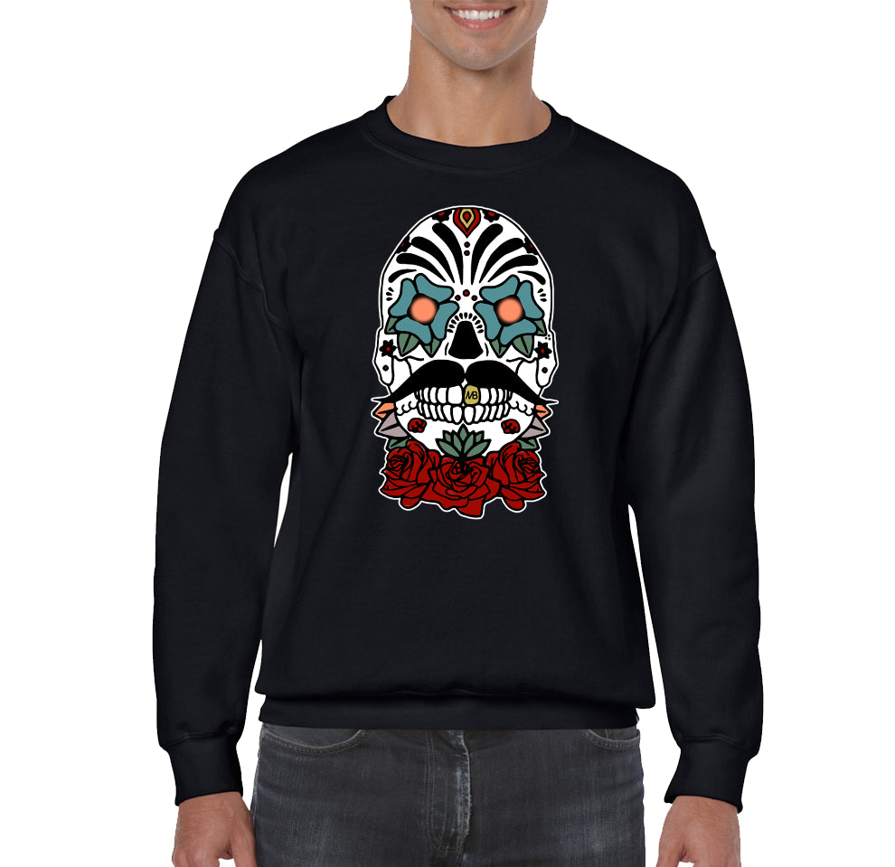 SWEATSHIRTS - BENEDETTI DESIGNS SKULL COLOR LOGO SWEATSHIRT
