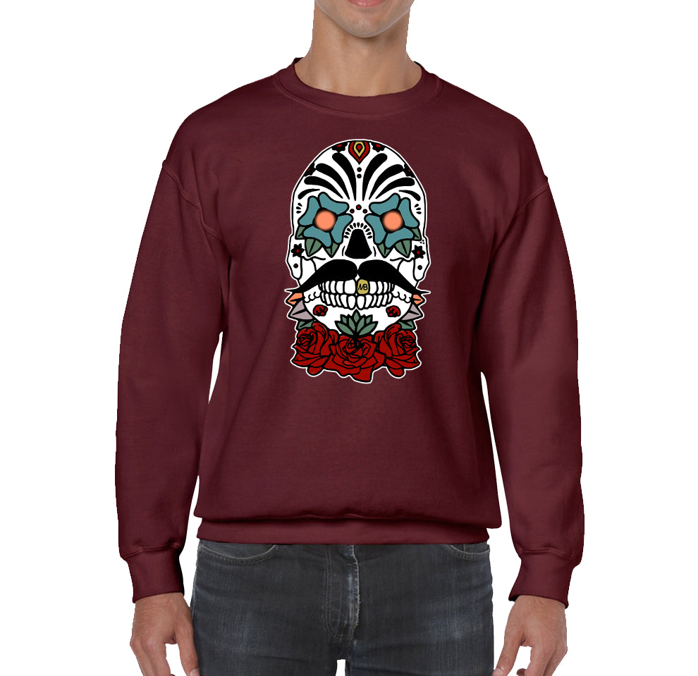 BENEDETTI DESIGNS SKULL COLOR LOGO SWEATSHIRT