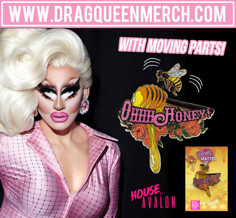 TRIXIE MATTEL OH HONEY w/ MOVING BEE PARTS ENAMEL PIN