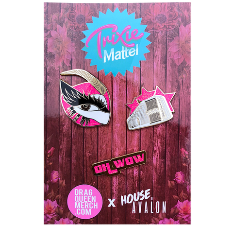 "TRIXIE MATTEL ""3 PC"" SET ENAMEL PIN"