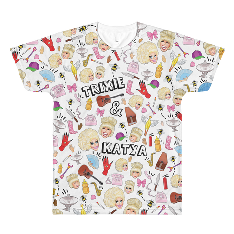 TRIXIE / KATYA COLLAGE LIMITED EDITION SUBLIMATED T-SHIRT