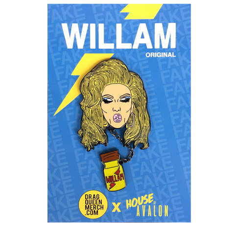 "WILLAM ""BOTTLE POP"" ENAMEL PIN"
