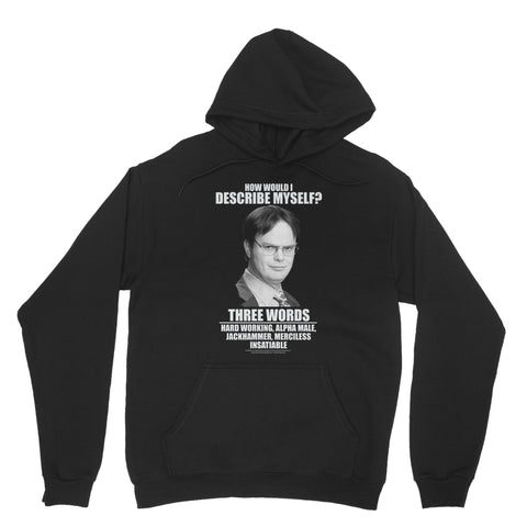 "THE OFFICE ""THREE WORDS"" Classic Adult Hoodie"