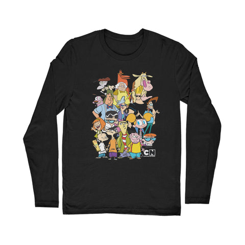 "Cartoon Network ""Character Collage"" Classic Long Sleeve T-Shirt"
