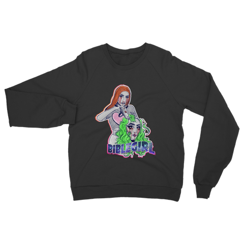 "UK LISTING - BIBLEGIRL ""SEEING DOUBLE"" Classic Adult Sweatshirt"