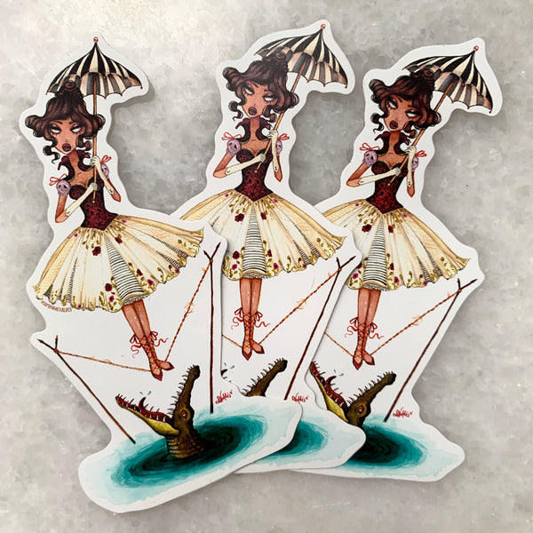 Haunted Mansion Tight Rope Girl Sticker Pack [3]