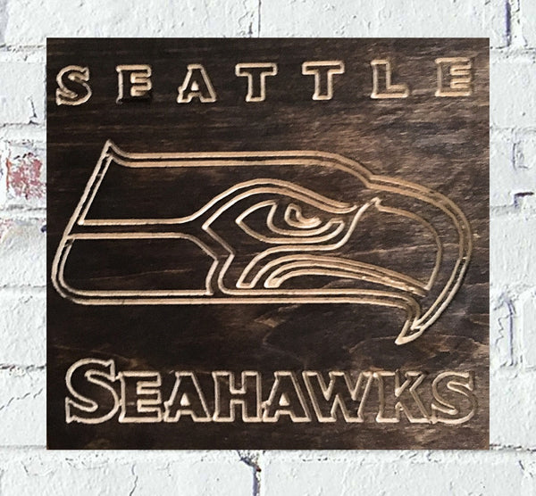 Seattle Seahawks Logo Custom Wood Sign - Pelican Design & Mfg