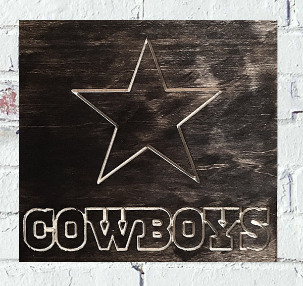 Dallas Cowboys Logo Custom Wood Sign - Pelican Design & Mfg
