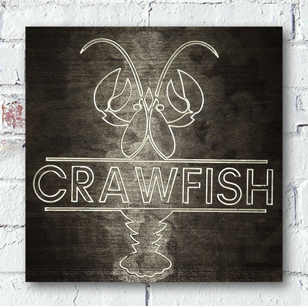 Crawfish Home Decor Custom Wood Sign - Pelican Design & Mfg