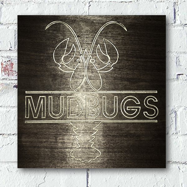 Crawfish Mudbug Wall Home Custom Wood Sign - Pelican Design & Mfg