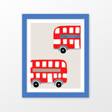Double decket bus printwall art