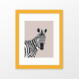 Zebra framed nursery art