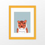 Tiger framed nursery art
