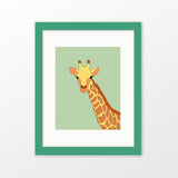 Giraffe framed nursery art