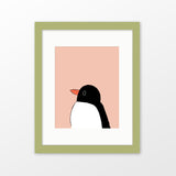Penguin framed nursery art
