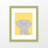Elephant framed nursery art