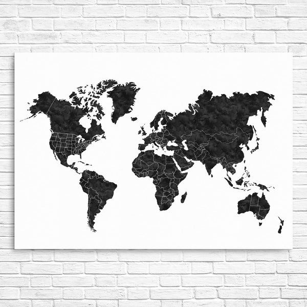 World map for kids modern kids gallery world map black and white gumiabroncs Images