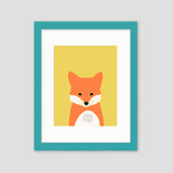 fox framed nursery art