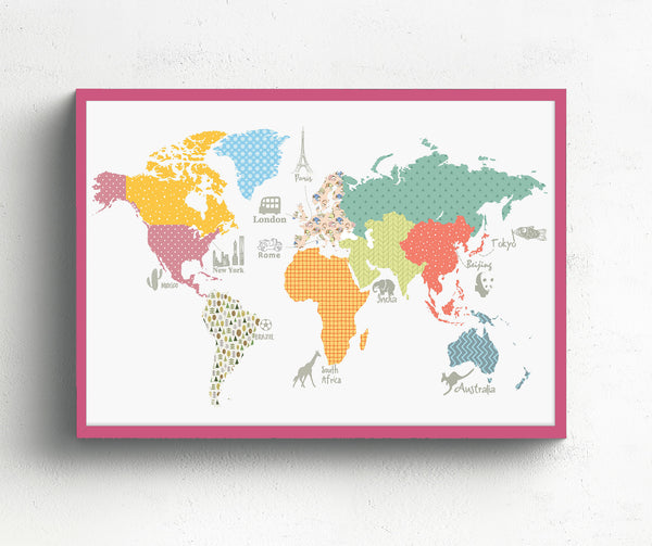 World map for kids 306