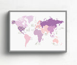 Girls world map deco