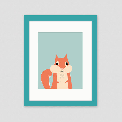 squirrel framed nursery art