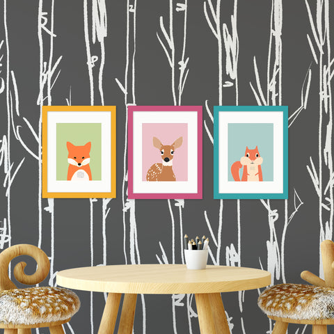 woodland nursery art