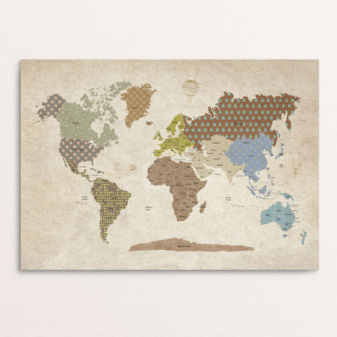 kid world map poster