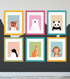 animals nursery wall art