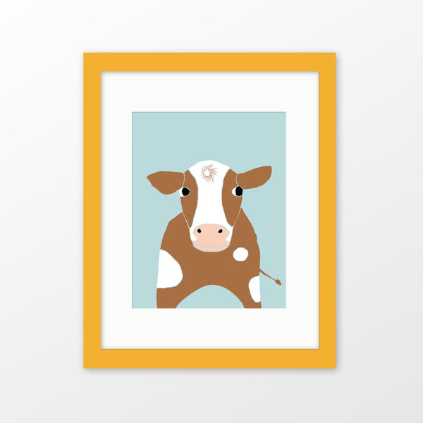 cow kids wall art