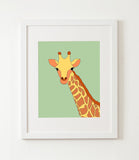 Safari animals nursery art set of 6 G5204