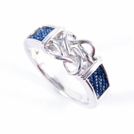 Denim Knot Band Ring