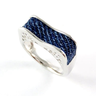 Denim Motif Ring
