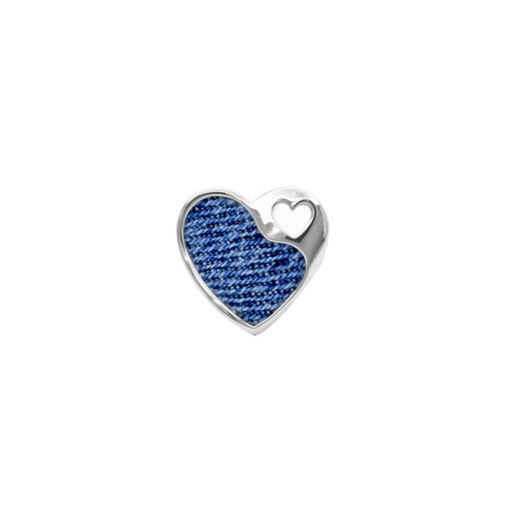 Denim Heart Pendant