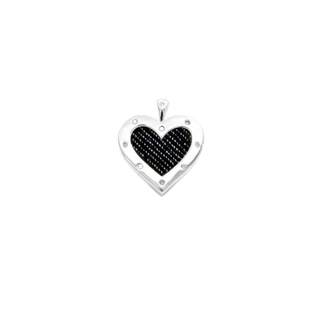 925 Silver Heart Pendant with Diamond