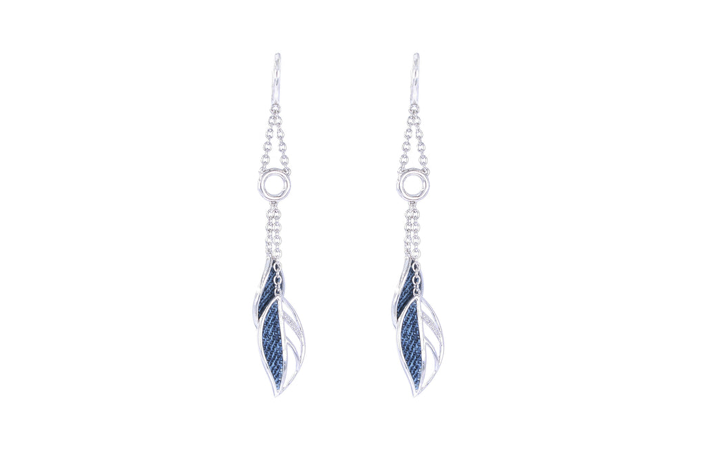 925 Silver Leaves Earrings