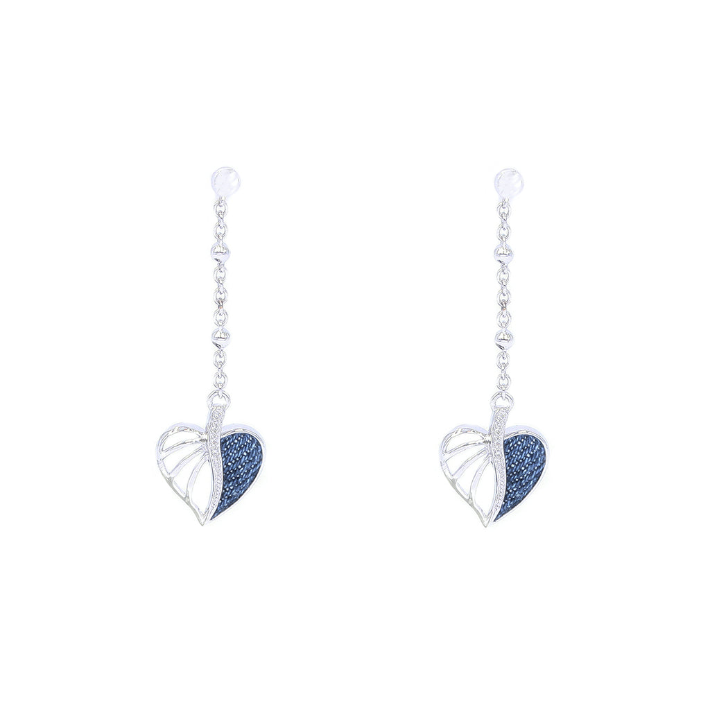 Dangling Heart Earrings