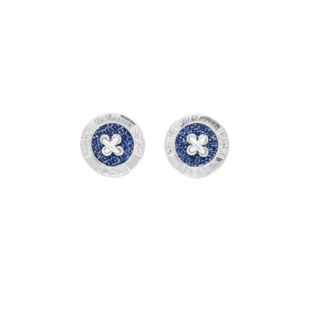 Signature Button Stud Earrings