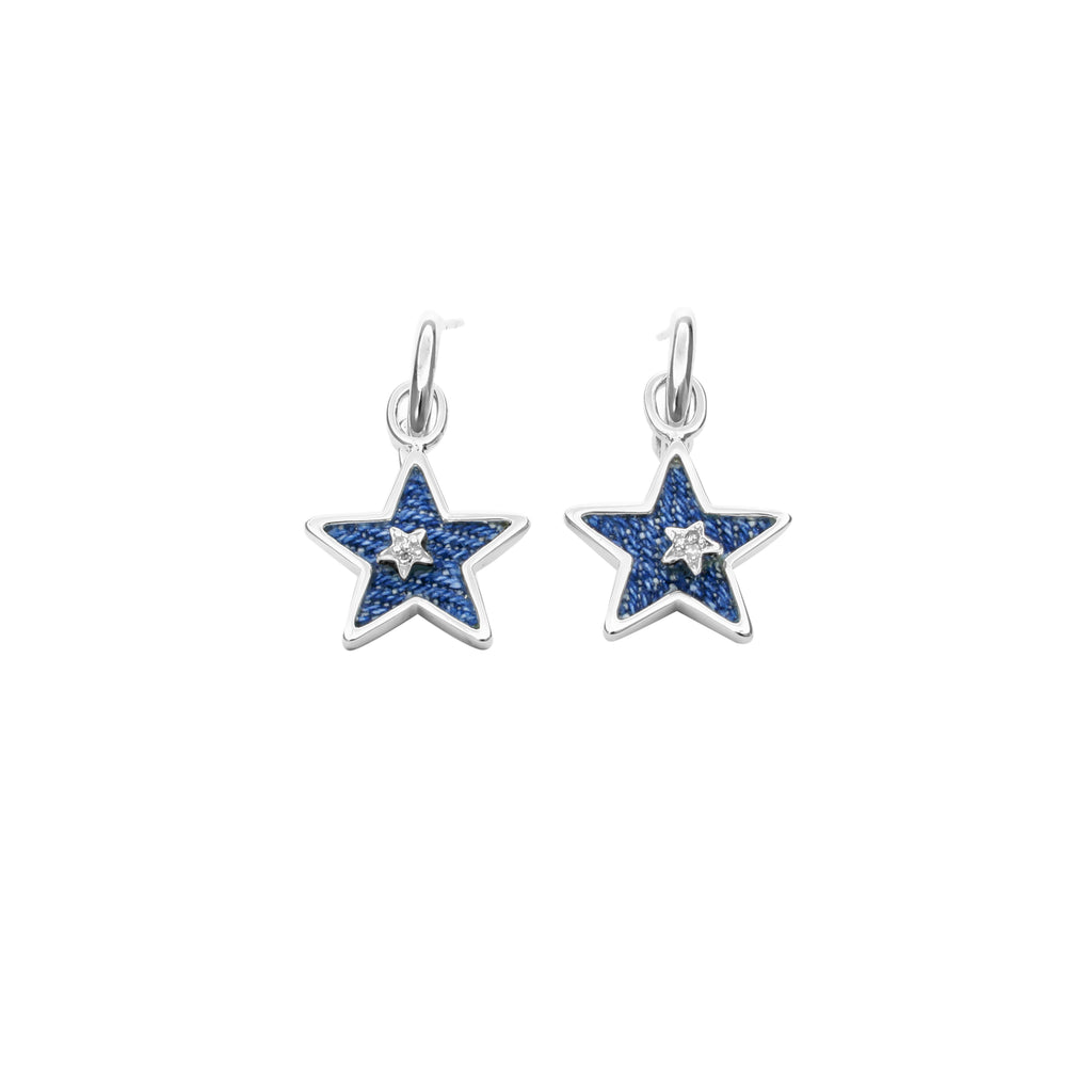 925 Silver Stars Dangle Earrings
