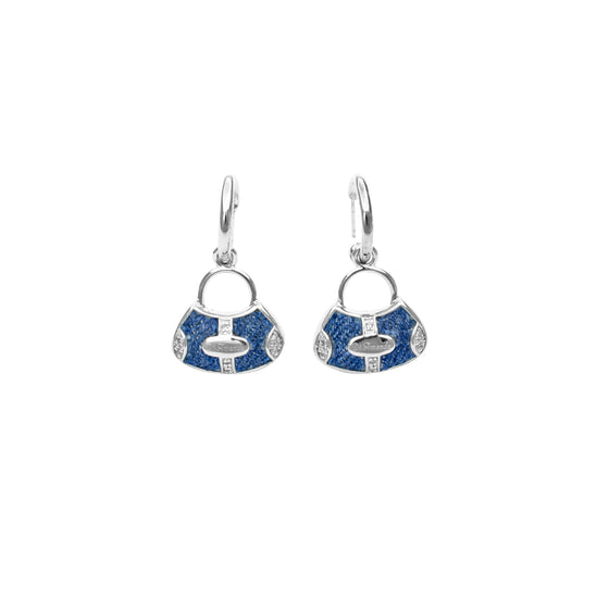 925 Silver Handbag Earrings