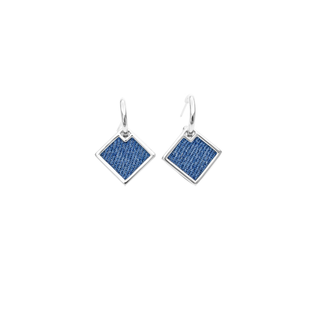 925 Silver Rhombus Earrings