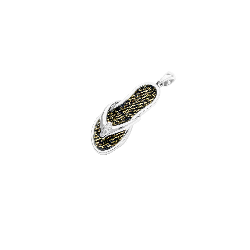 925 Silver Little Shoe Pendant with Diamond