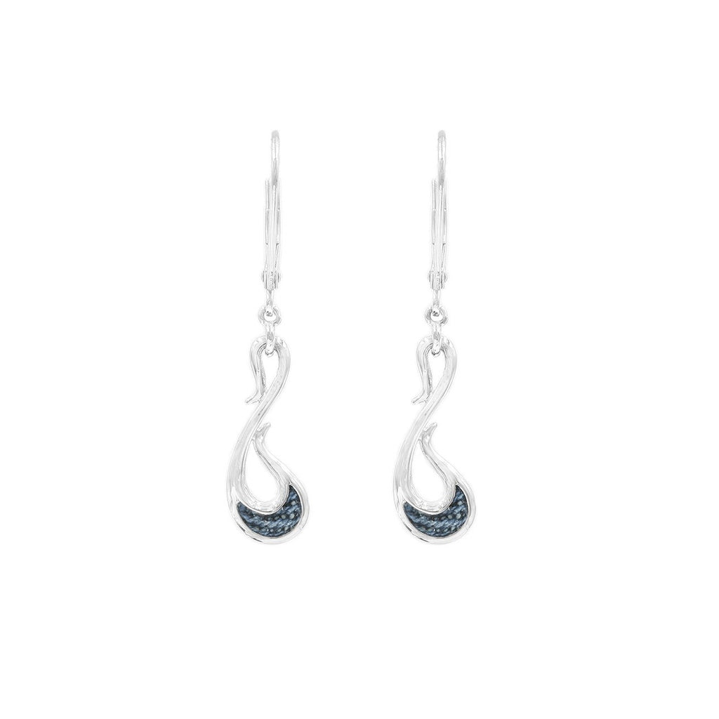 925 Silver Denim Dangle Earrings