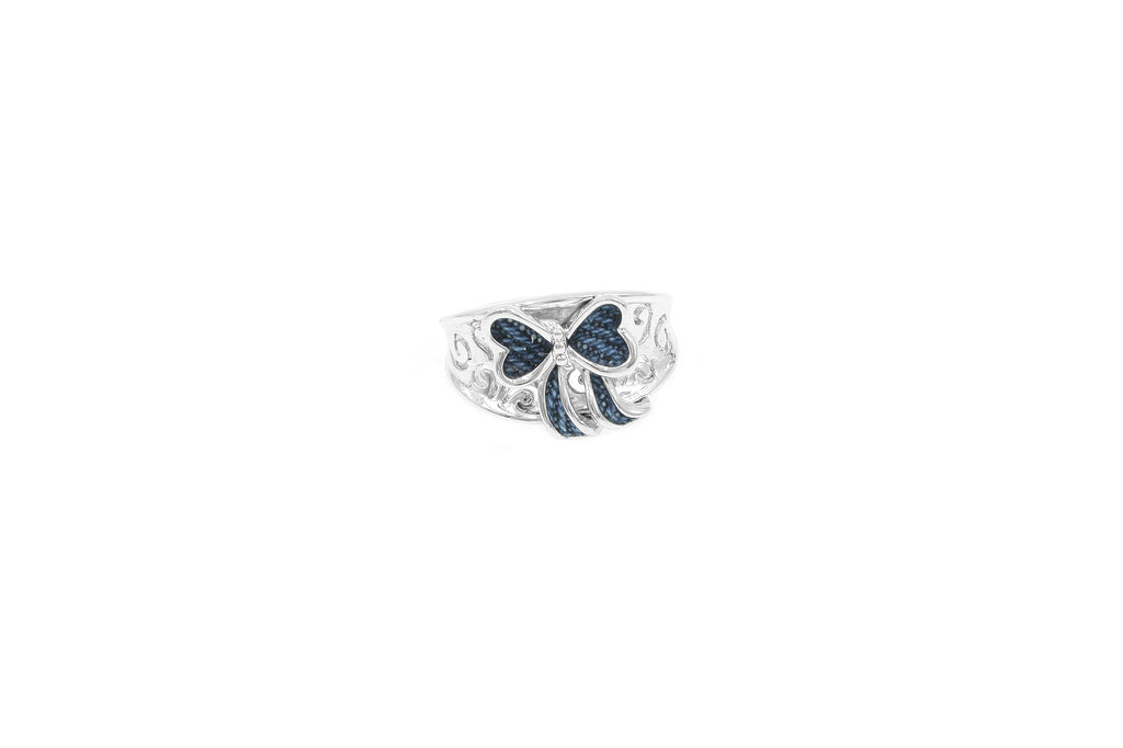 925 Sterling Silver Ribbon Ring