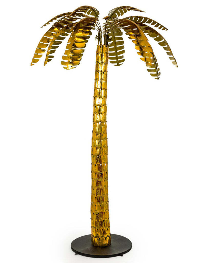 Antique Gold Extra Large Leaf Palm Tree