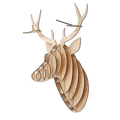 Wall Decor Plywood Stag Head Trophy Deer