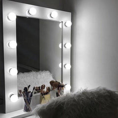 Julia Hollywood Mirror in White Gloss Portrait 80 x 60cm