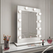 Audrey Hollywood Mirror in White Gloss Landscape 80 x 110cm