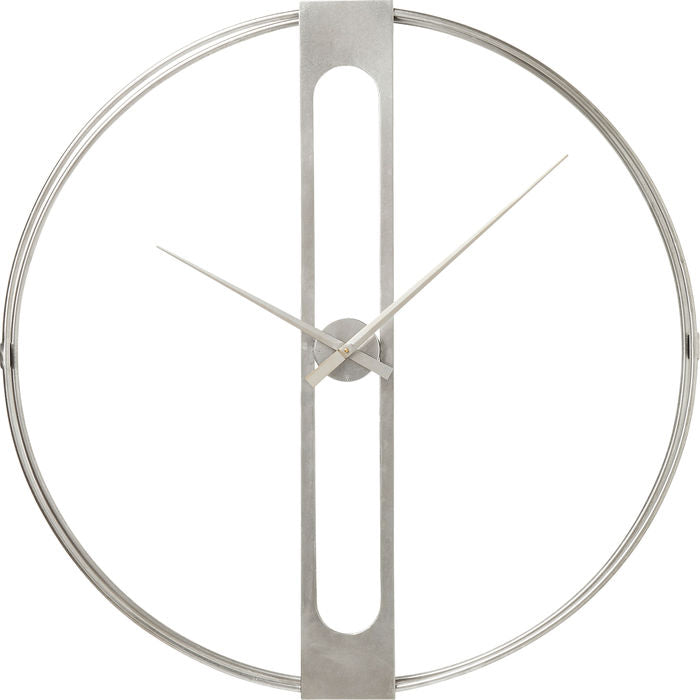 Large Silver Clip Wall Clock
